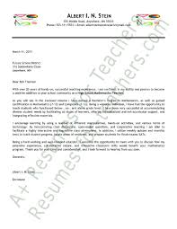 cover letters examples for teachers surprising ideas teaching