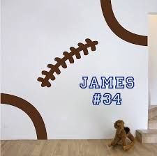 Sports Decals For Kids Rooms by Best 25 Football Wall Ideas Only On Pinterest Boys Football