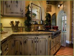brilliant distressed kitchen cabinets related to interior