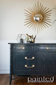 Ideas For Refinishing Bedroom Furniture Vintage Thomasville Allegro Faux Bamboo Dresser In Glossy Smoke Gray