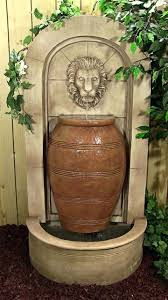 Faux Stone Patio by Lion Head Fountain Lion Head Faux Stone Wall Fountain Lion Head