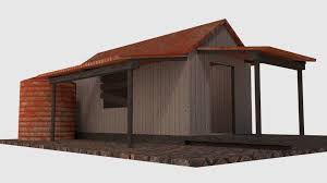 shack rusty old shack game ready 3d model cgtrader