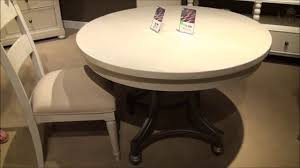 harbor view iii round oval gray dining table by liberty furniture