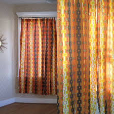 Contemporary Orange Curtains Designs Regal Sheer Orange Curtains For Cool Windows Treatments Added