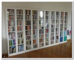 Antique White Bookcase With Doors Best 25 Glass Door Bookcase Ideas On Pinterest Blue Library