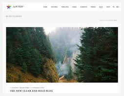 choose a blog page layout in jupiter for your wordpress website