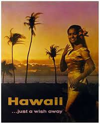 hawaii travel bureau hawaii visitors bureau hula just a wish away circa 1970