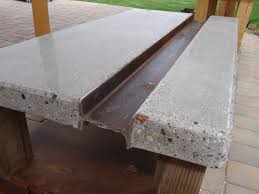 Concrete Coffee Table Polished Concrete Coffee Table With Steel I Beam