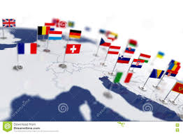 Europe Map Countries by Europe Map With Countries Flags Stock Illustration Image 67632196
