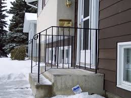 iron stair railing edmonton south side ornamental
