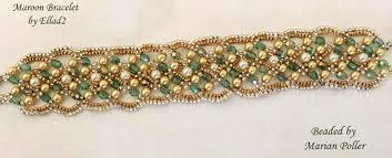 bracelet beaded images Maroon bracelet beaded by my beading friends ellad2 jpg