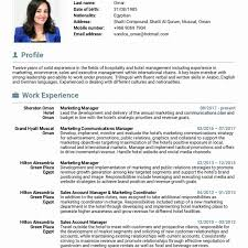resume exles marketing exle resume marketing coordinator cv digital sle fresher