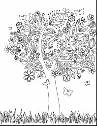 marvelous apple tree coloring page with tree coloring page