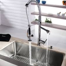 pre rinse kitchen faucets kraus pre rinse pull kitchen faucet review modern kitchen