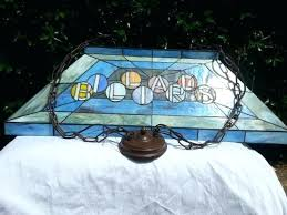 budweiser stained glass pool table light stained glass pool table light rustic pool table lights improbable