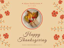 happy thanksgiving fotor photo cards free photo card