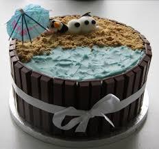 olaf on the beach cake and cupcakes u2013 lovinghomemade