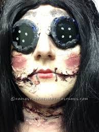 Creepy Doll Makeup Halloween by Coraline Inspired Creepy Doll Costume Creepy Doll Costume