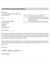 writing job offer thank you letter acceptance letter following up