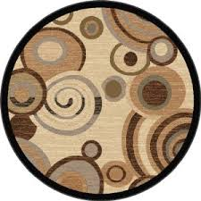 Circle Area Rug 6 Area Rugs Brown Black Circle And Spiral