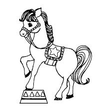 coloriage chevaux cirque a imprimer gratuit