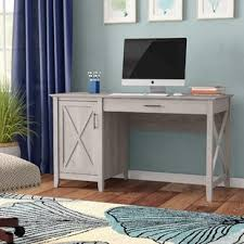 Gray Computer Desk Farmhouse Desks Birch