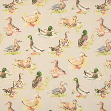 Bird Print Curtain Fabric Mallard Curtain Fabric Linen Terrys Fabrics Uk