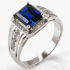 blue man rings images Fashion accessories women 39 s and men gemstone rings men with jpg
