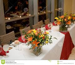 Banquet Table Banquet Table Place Settings Royalty Free Stock Images Image