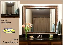 Framing An Existing Bathroom Mirror Mirror Frame Kits For Bathroom Mirrors