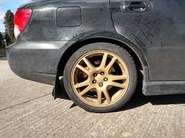 bronze subaru wrx alloy wheels for a 2004 subaru impreza wrx wagon