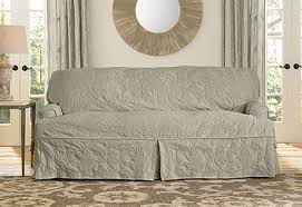 T Cushion Sofa Slipcover by T Cushion Sofa Sure Fit Cotton Duck Sofa T Cushion Slipcover