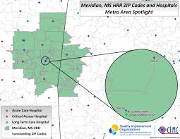 Mississippi Zip Code Map by Ms Meridian Providers U2013 Medicaring Communities
