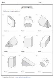 worksheet on volume free worksheets library download and print