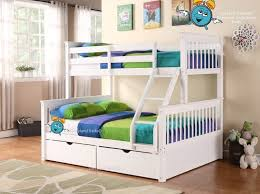 White Supersonic Wooden Double Bunk Beds With Drawers Triple - White bunk beds uk