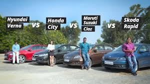 Hyundai Cars In Rapid City by 2017 Hyundai Verna Vs Honda City Vs Maruti Ciaz Vs Skoda Rapid