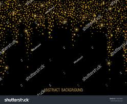 Invitation Card For New Year Abstract Background Gold Glitter Falling Stars Stock Vector