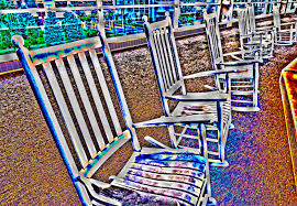 painted rocking chairs free stock photo public domain pictures