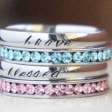 stackable engraved mothers rings name ring ideas collections