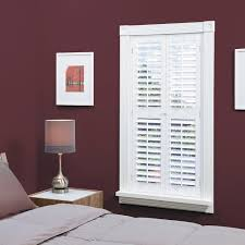 interior plantation shutters home depot homebasics plantation faux wood white interior shutter price varies
