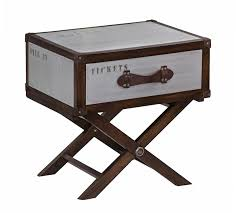 trunk style bedside tables quest trunk style side table on stand