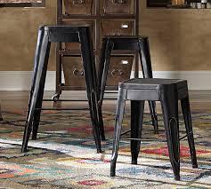 homelegance amara 24in metal counter stool black 5035blk 24