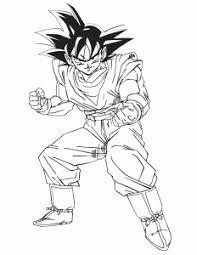 dragon ball z gohan cartoon coloring page download cartoon