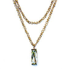 long necklace crystal images Catherine popesco long chain crystal rectangle pendant 42 quot gold jpg