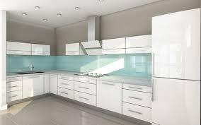 Contemporary Kitchen High Gloss Acrylic White Cabinets With - Acrylic backsplash