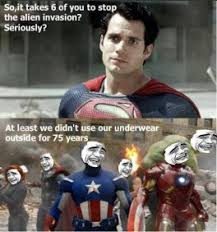 Man Of Steel Meme - avengers vs man of steel meme funny pictures