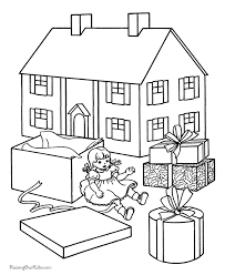 free christmas coloring sheets lots toys