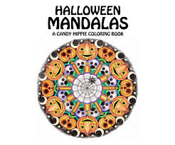 halloween mandalas coloring book printable coloring book