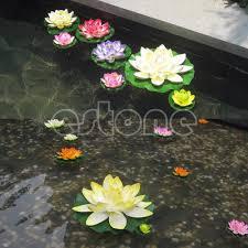 free shipping floating lotus flower aquatic fish tank ornament