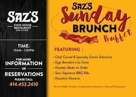 menu for brunch saz s state house sunday brunch menu saz s hospitality